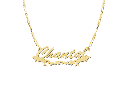 Gouden naamketting model Chantal2