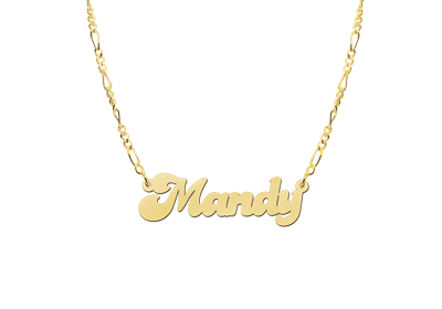 Gouden naamketting model Mandy2