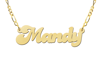 Gouden naamketting model Mandy